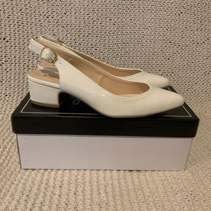 New in Box Qupid Swing White Crinkle Shoes